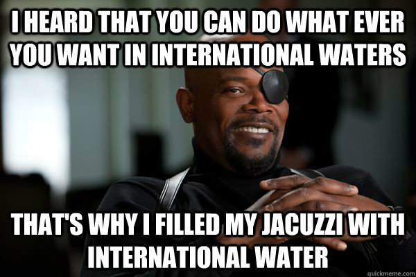 nick fury avengers meme about international law